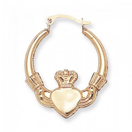 Just Gold Earrings -9Ct Gold Claddagh Earring, ER071